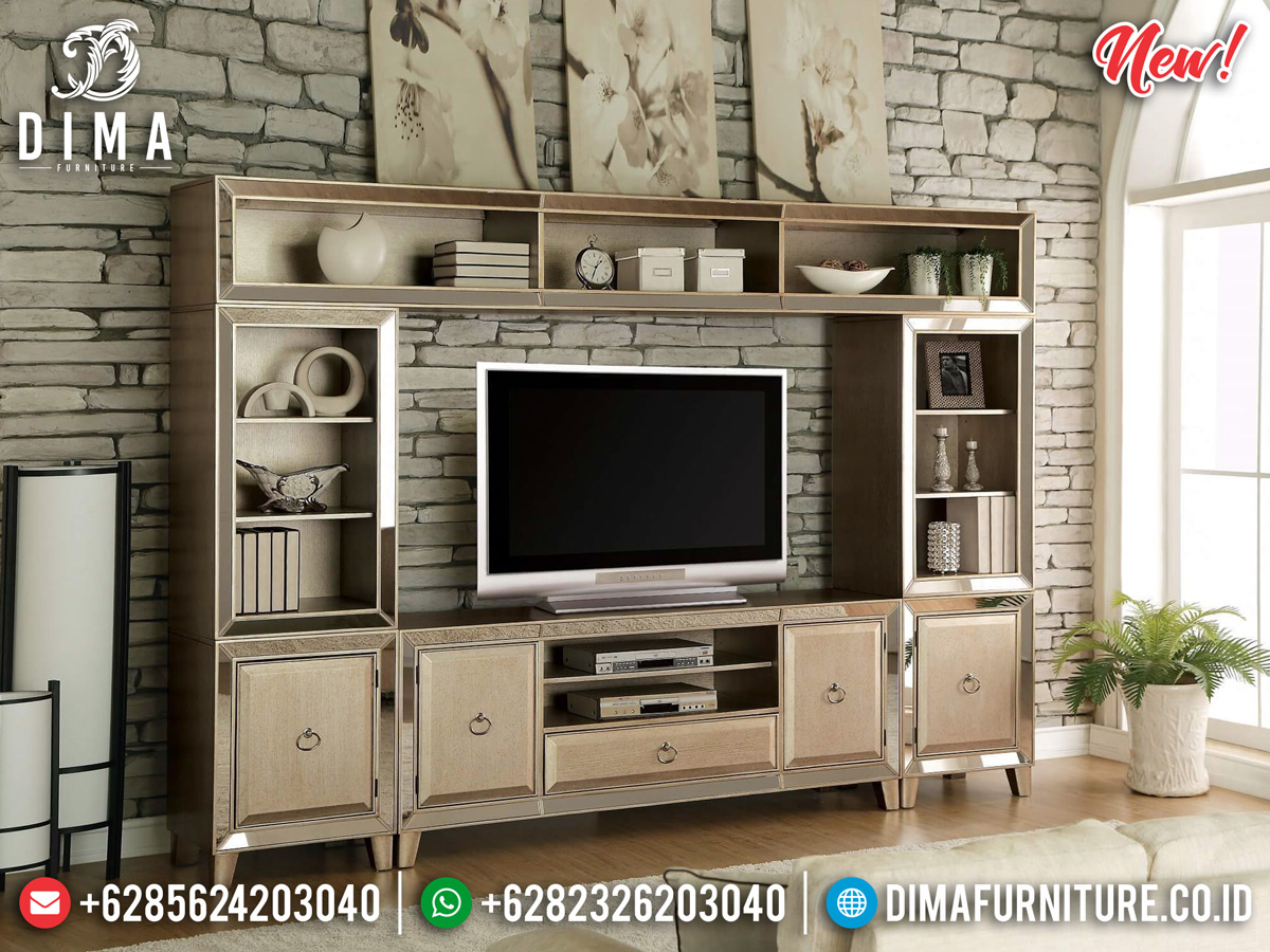 Bufet TV Minimalis Modern Luxury Type New Furniture Jepara Product MMJ-0805