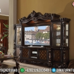 Desain Bufet TV Ukiran Jati Natural Luxury Classic Elite MMJ-0797