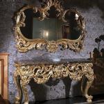 Desain Meja Konsol Mewah Luxury Klasik Golden Carving Artistik Model MMJ-0719