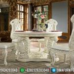Emperial Beatrix Set Meja Makan Ukiran Luxury Furniture Jepara MMJ-0716