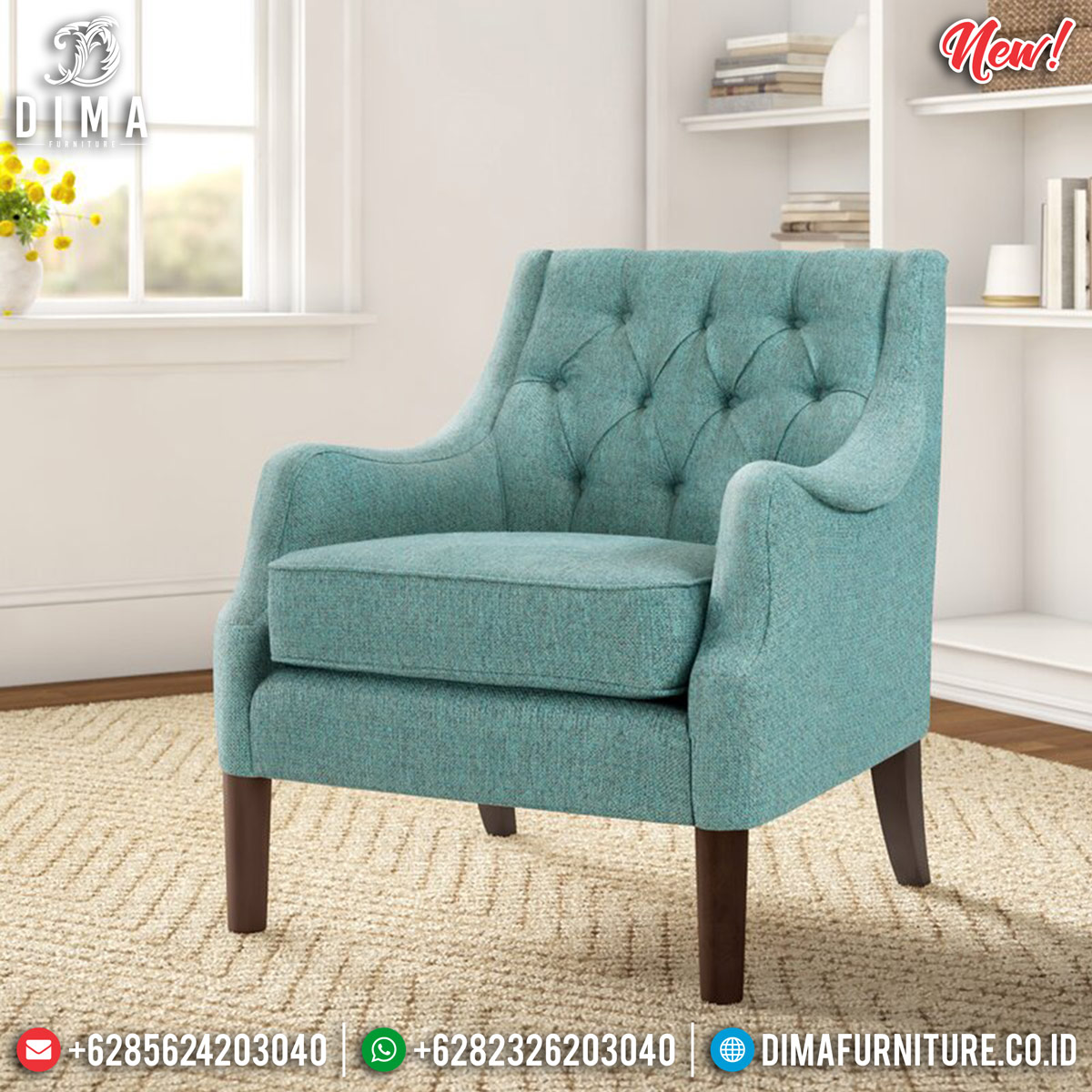 Epic Desain Sofa Minimalis Single Seater New Luxury Furniture Jepara MMJ-0818