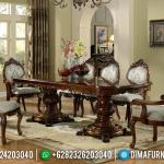 Furniture Jepara Meja Makan Minimalis Natural Jati New Design Luxury Classic MMJ-0704