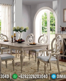 Great Alexander Meja Makan Jati Minimalis Klasik Luxury Furniture Jepara MMJ-0708