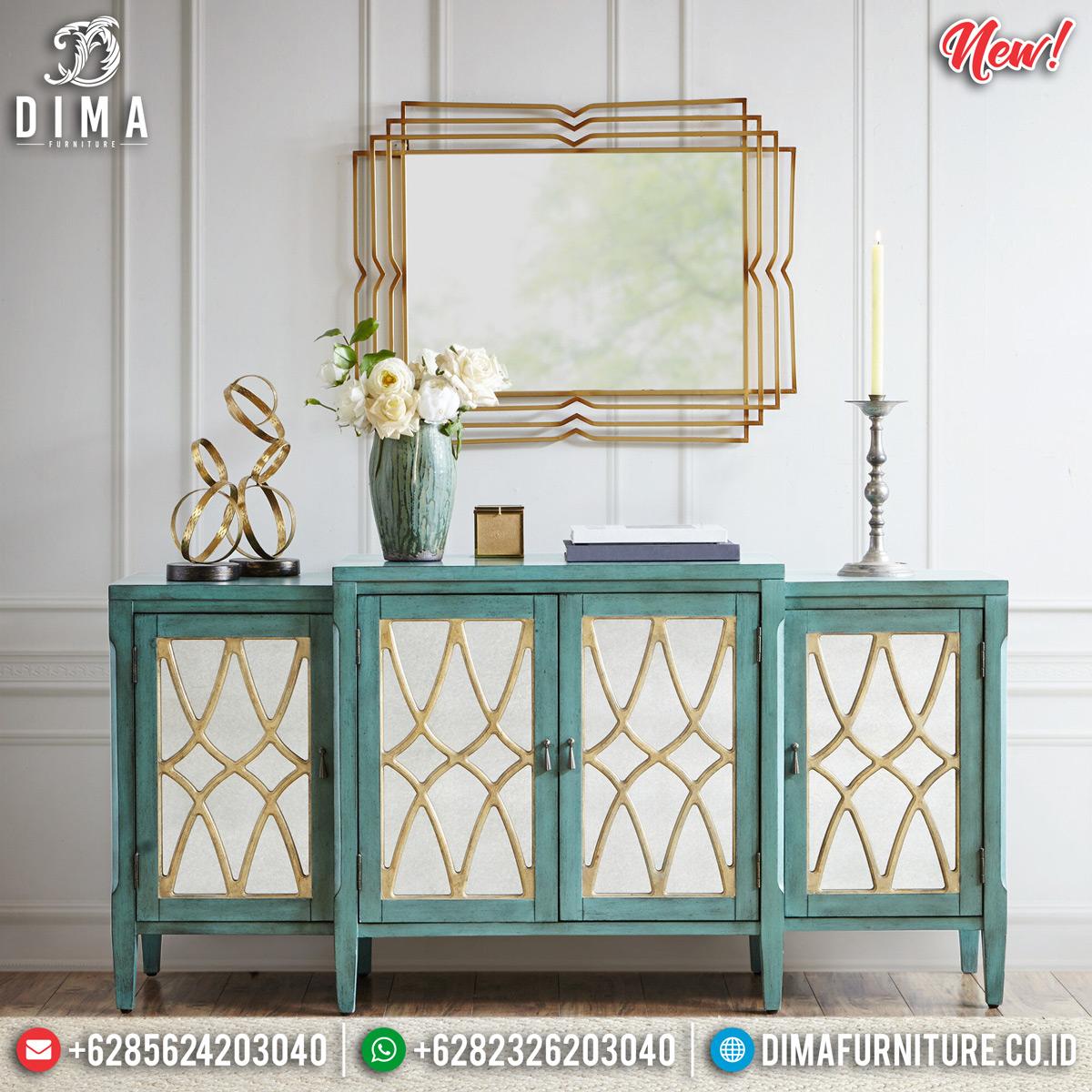 Harga Meja Konsol Modern Minimalis Luxury Style Crystal Glass Set MMJ-0775