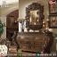 Harga Meja Konsul Mewah Set Cermin Hias Ukiran New Luxury Classic Jepara MMJ-0823