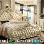 Harga Tempat Tidur Mewah Klasik Putih Tulang Ukiran Luxury Furniture Jepara MMJ-0692