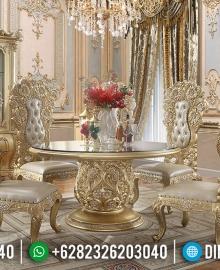 Jual Meja Makan Mewah Luxury Classic Golden Relief Furniture Jepara High Class MMJ-0712