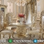 Jual Meja Makan Mewah Luxury Classic Golden Relief Furniture Jepara High Class MMJ-0712