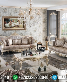 Louise Style Sofa Tamu Mewah Ukiran Luxury Classic New Design Furniture Jepara MMJ-0696