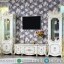 Luxury Style Meja TV Putih Mewah Best Collection Dima Furniture Jepara MMJ-0739