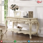 Meja Konsul Mewah Ukiran Luxury Classic White Duco Guaranteed Product MMJ-0822