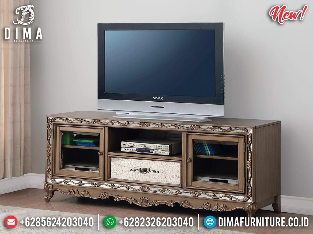Model Meja TV Minimalis Luxury New Style Furniture Jepara MMJ-0804