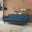 Model Sofa Minimalis Jati Natural Blue Navy Velvet Design Klasik Absolute MMJ-0762