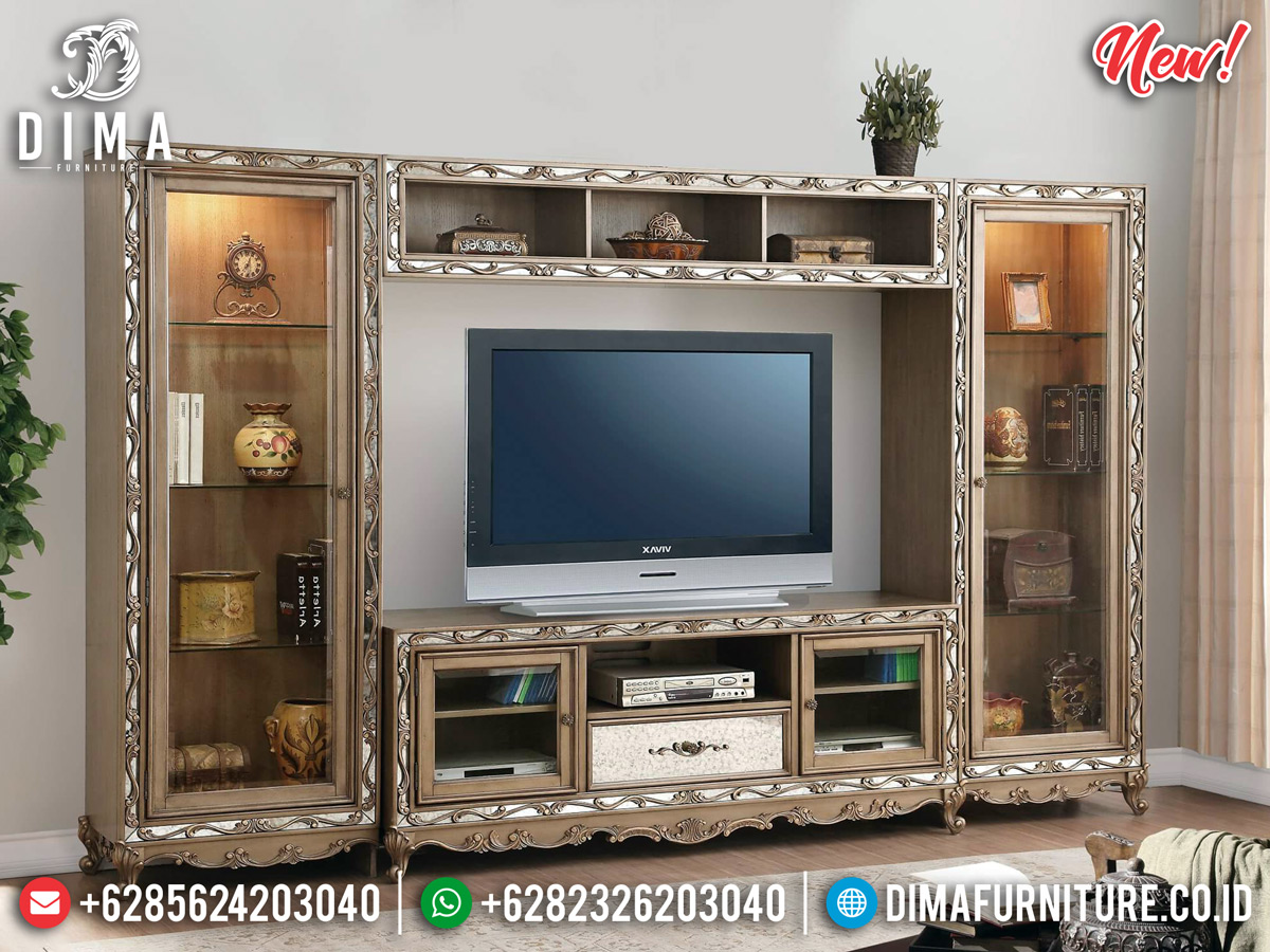 New Desain Bufet TV Mewah Minimalis Beautiful Design Minimalist MMJ-0806