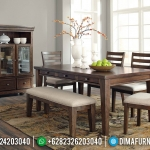 New Set Meja Makan Minimalis Jati Natural Klasik Furniture Jepara Termurah MMJ-0700