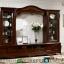 Set Bufet TV Mewah Klasik Eropa Natural Jati New Gorgeous Interior MMJ-0795