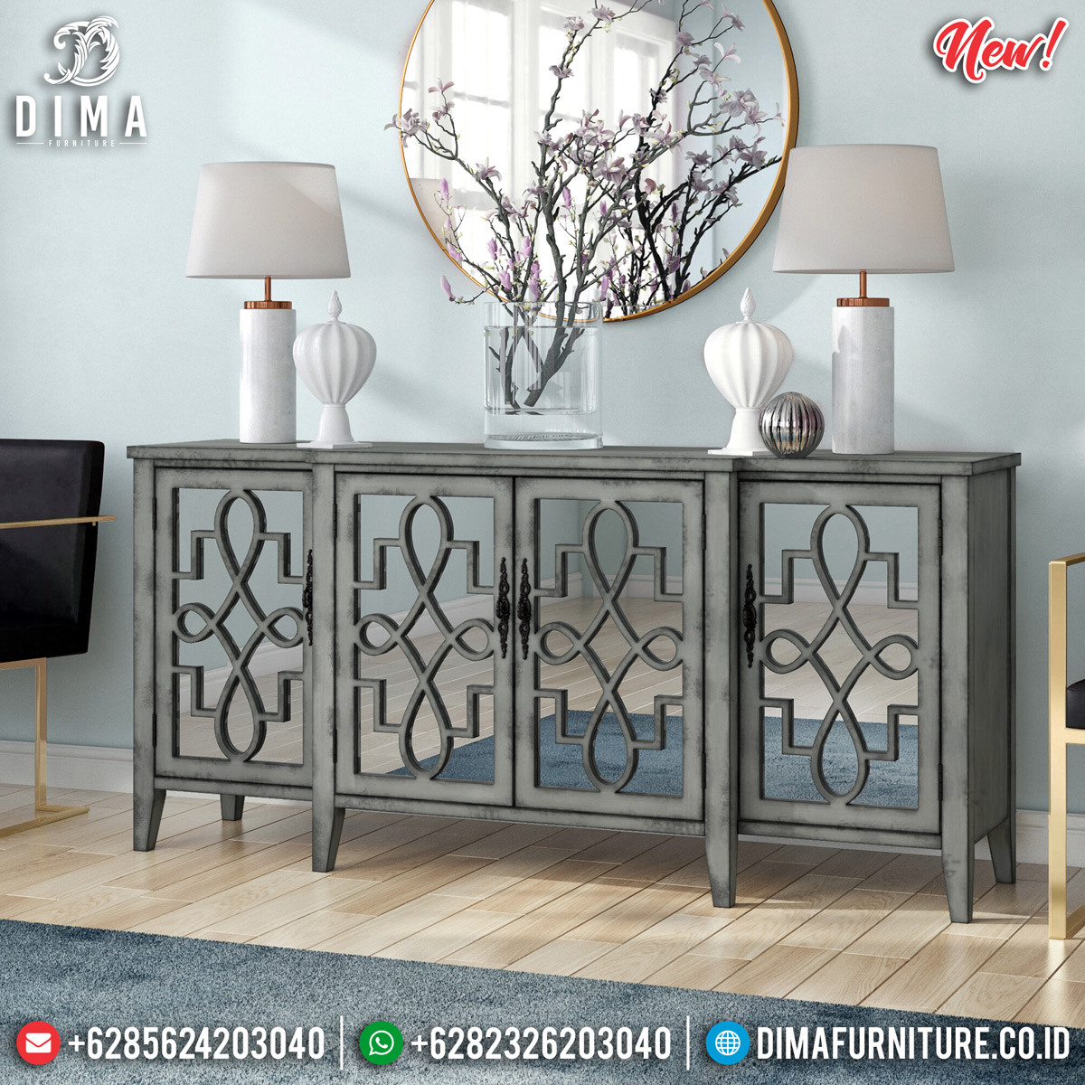 Set Meja Konsul Minimalis Unique Design Luxury Furniture Jepara MMJ-0774