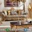 Set Sofa Tamu Mewah Klasik Luxury Ukiran Italian Barocco New Artistik Style MMJ-0729
