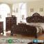 Set Tempat Tidur Jepara Klasik Charlotte Kayu Jati Natural Dark Brown Antique MMJ-0687