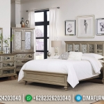 Set Tempat Tidur Modern Minimalis Golden Champagne Luxury Style Great Solid Wood MMJ-0744