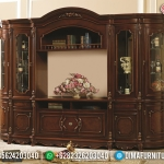 Superior Bufet TV Mewah Ukiran Jati Natural Luxury Carving Jepara MMJ-0829