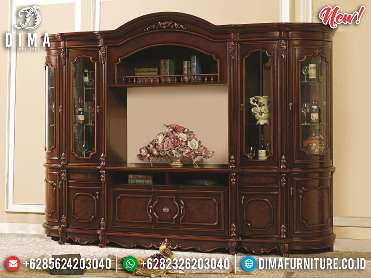 Superior Bufet TV Mewah Ukiran Jati Natural Luxury Carving Jepara MMJ-0829