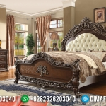 Tempat Tidur Mewah Alexander Great Natural Jati Solid Wood Combination Color MMJ-0691