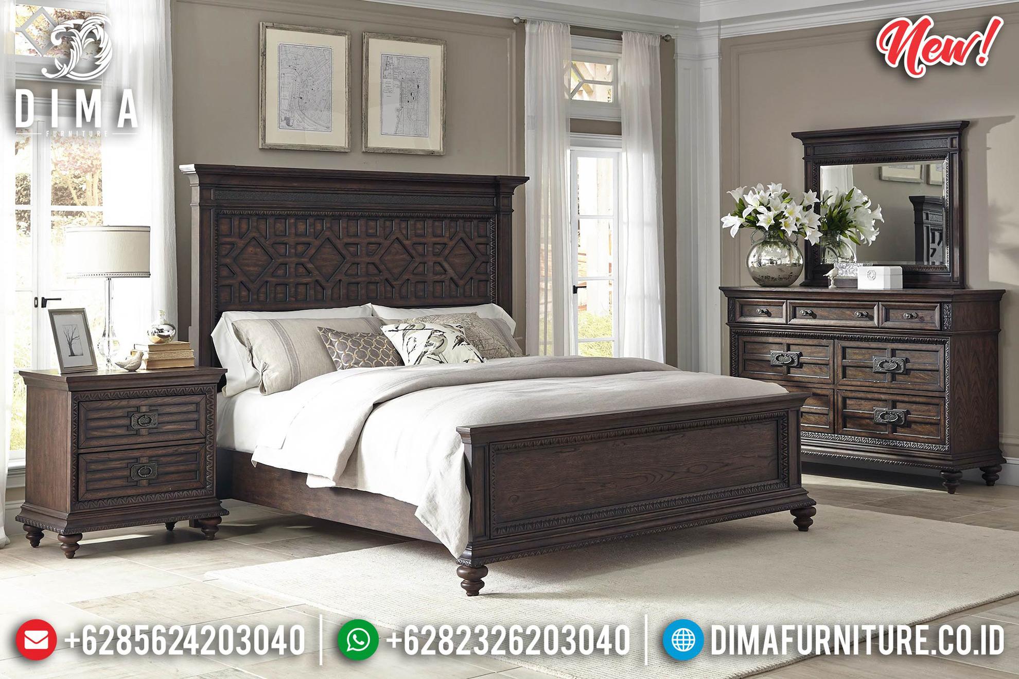 Tempat Tidur Minimalis Ukuran Queen New Modern Design Royals Natural Luxury MMJ-0745