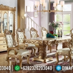 Desain Meja Makan Mewah Golden Great Luxury Type Barocco Carving MMJ-0890