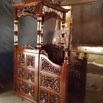 Desain Mimbar Masjid Kubah Ukiran Luxury Classic Beautiful Konsep MMJ-0858