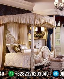 Desain Tempat Tidur Mewah Kanopi Luxury Style Beautiful Princes Emperial Model MMJ-0908