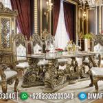 Free Ongkir Jawa Bali Meja Makan Mewah Golden Louvre Luxury Classic MMJ-0892