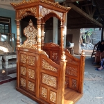 Great Wood Jati Mimbar Masjid Kubah Ukiran Luxury Furniture Jepara MMJ-0852