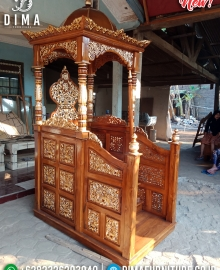 Great Wood Jati Mimbar Masjid Kubah Ukiran Luxury Furniture Jepara MMJ-0852