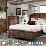 Great Wood Kamar Set Minimalis Jati Gorgeous Natural Classy Versace MMJ-0899
