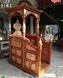 Harga Mimbar Jati Ukiran Luxury Klasik Jepara New Desain Mebel Jepara MMJ-0854