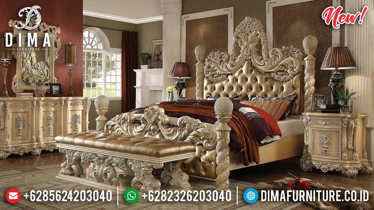Harga Tempat Tidur Mewah Ukiran Luxury Classic Desain Glamorous Empire MMJ-0869