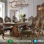 New Desain Meja Makan Klasik Jati Perhutani Luxury Carving Combination BT-0801