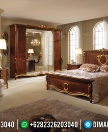 Luxury Style Kamar Set Mewah Jati Veneer Combine Natural Salak MMJ-0873
