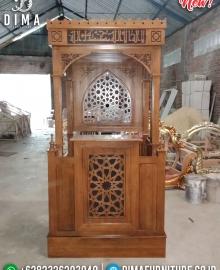 Mimbar Masjid Kubah Kayu Jati Natural Luxury Klasik Mebel Jepara Terbaru MMJ-0850