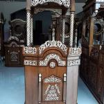 Mimbar Masjid Mewah, Mimbar Khotbah Kaligrafi, Ukiran Kaligrafi Jepara New Luxury MMJ-0842