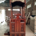 Mimbar Masjid Ukiran Jati Natural Luxury Classic Furniture Jepara MMJ-0859