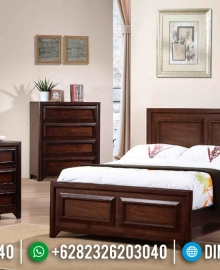 New Model Kamar Set Minimalis Jati Natural Salak Brown Kayu Perhutani MMJ-0881