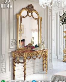 Jual 1 Set Meja Konsul Jepara Ukiran Mewah Golden Inka MMJ-0917