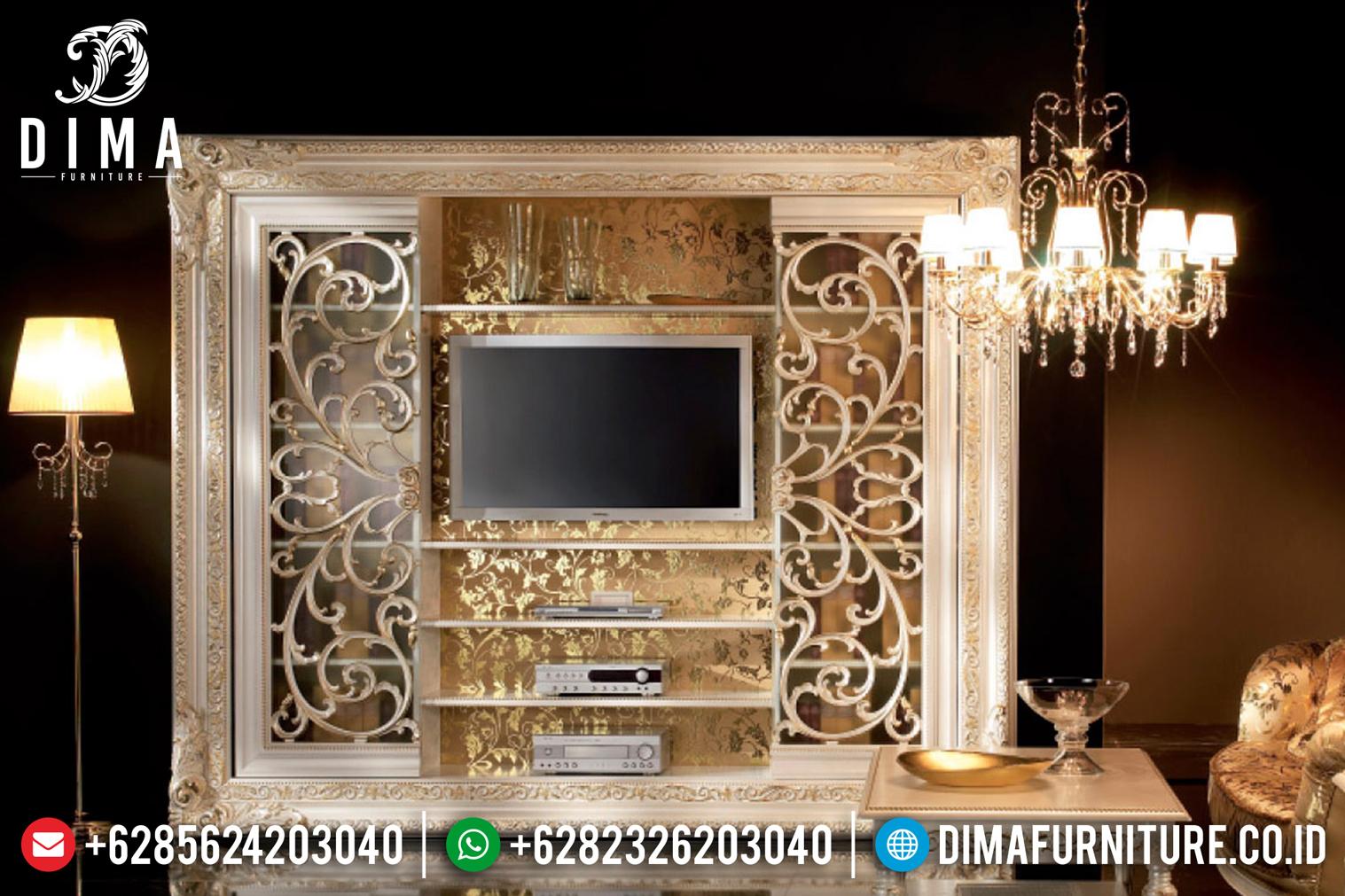 Bufet TV Mewah Ukiran Jepara Duco 2019 MMJ-0102