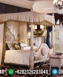 Jual Tempat Tidur Mewah Jepara Kanopi Terbaru MMJ-0104