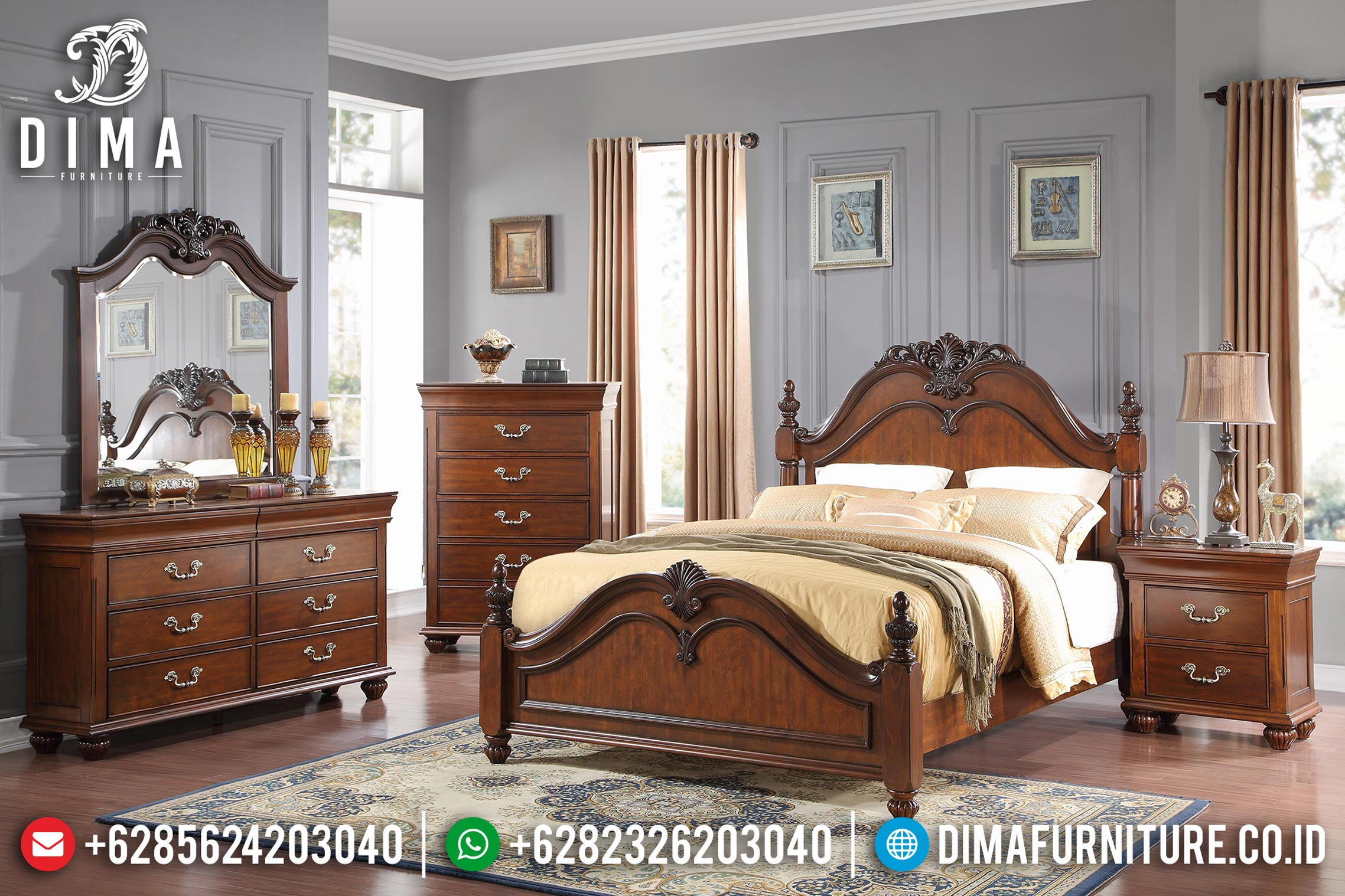 Kamar Set Tempat Tidur Jepara Jati Minimalis Tryana MMJ-0069