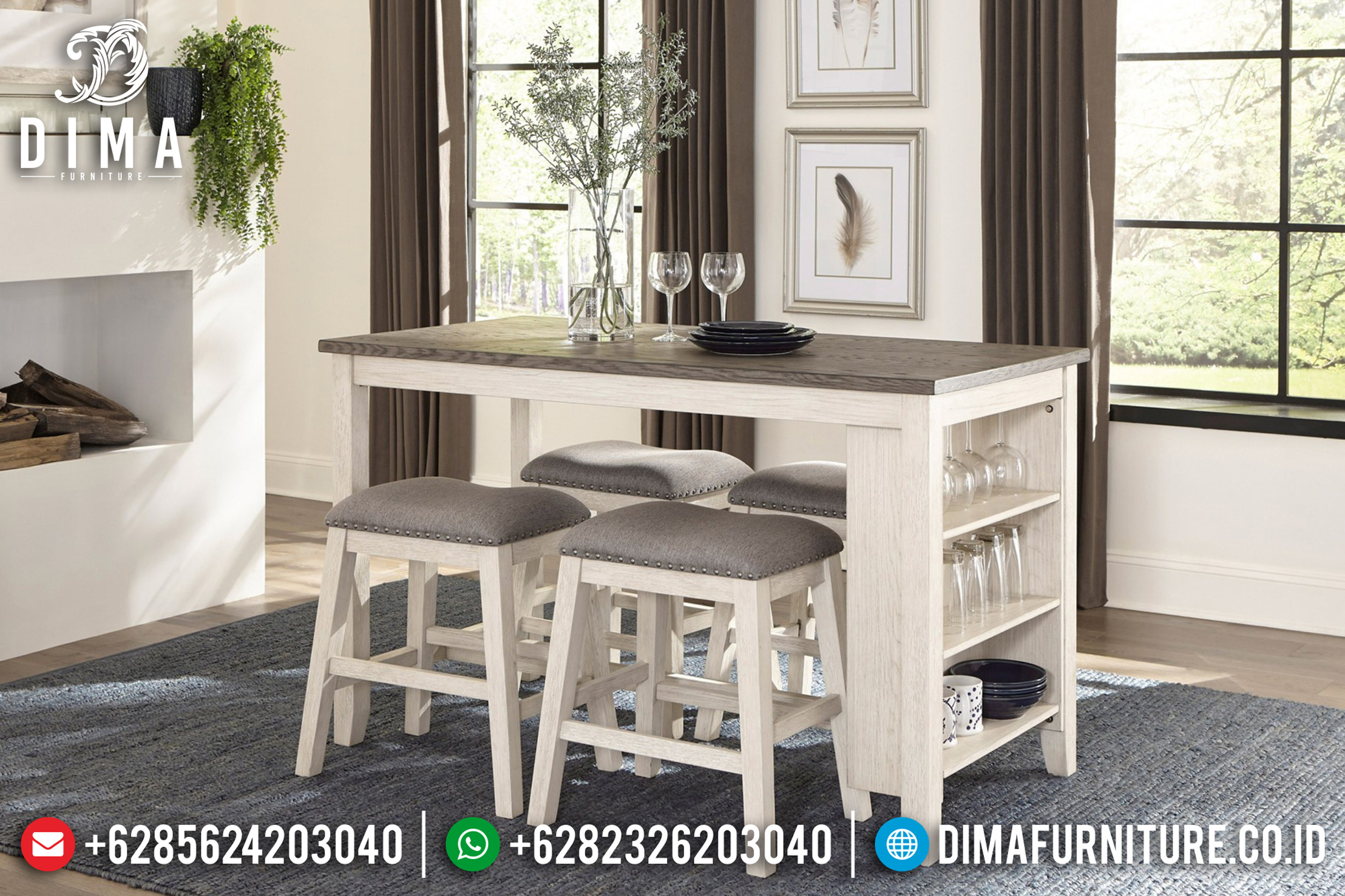 Set Meja Makan Jepara Minimalis Untuk Cafe MMJ-0061