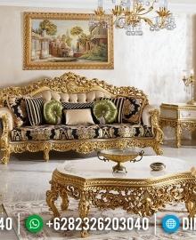 Full Ukiran Klasik Sofa Tamu Jepara Emas Duco Oymali MMJ-0144