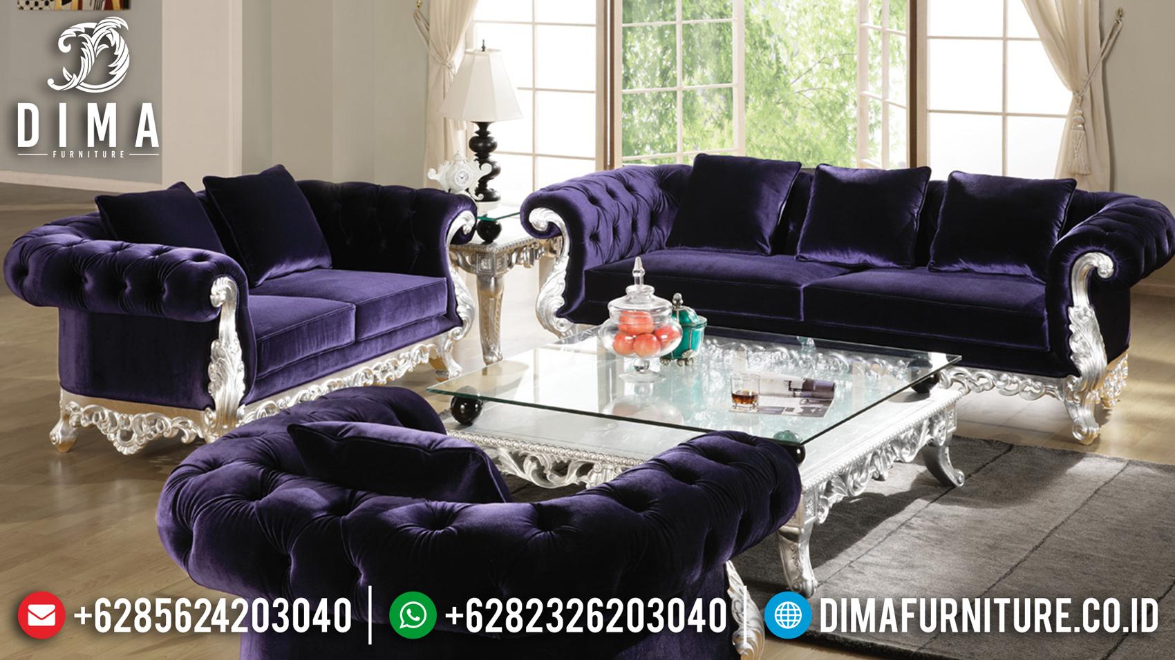 Harga Set Sofa Tamu Jepara Mewah Silver Duco Racoco MMJ-0126